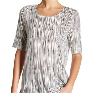 VINCE Pima Cotton Wavy Lines Tee XS